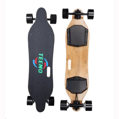 Image of Teemo M-4 Electric Longboard  Top And Rear View