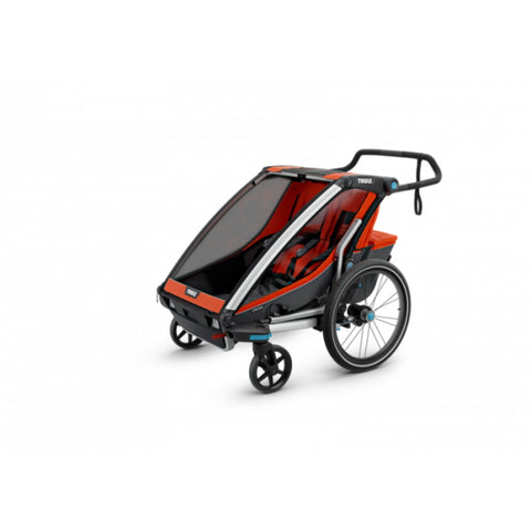 Thule Chariot Cross 2 Kids Bike Trailer red 4 wheel
