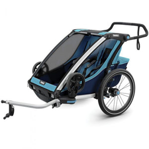 Thule Chariot Cross 2 Kids Bike Trailer blue bike adapter
