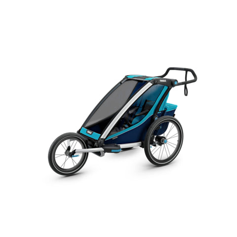 Thule Chariot Cross Kids Bike Trailer blue 3 wheels