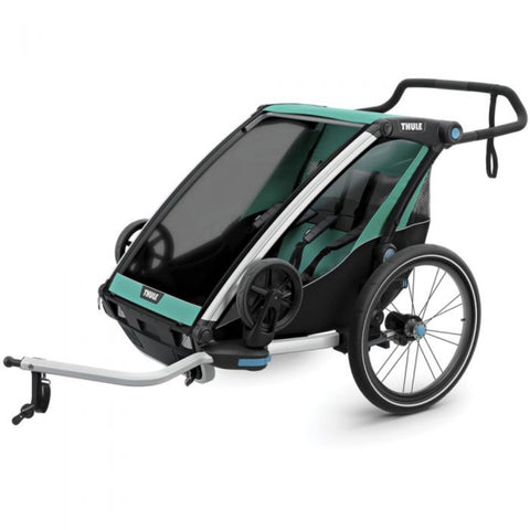 Thule Chariot Cross Lite Like Bike Trailer double front view