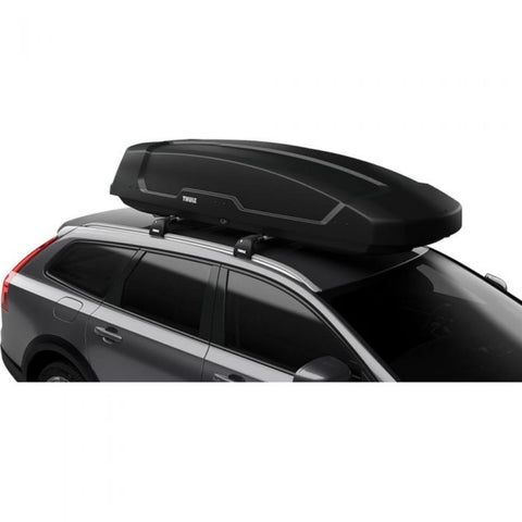 Thule Force XT XL Cargo Box mounted close up