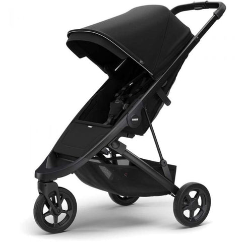 Thule Spring Kids Stroller black side angle
