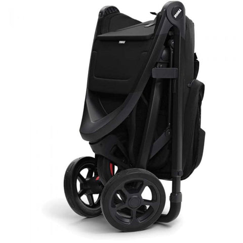 Image of Thule Spring Kids Stroller folded side angle