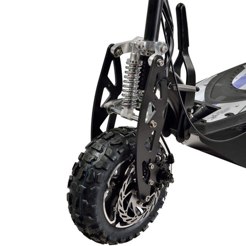 Image of Uberscoot 1600W Electric Scooter front tire close up