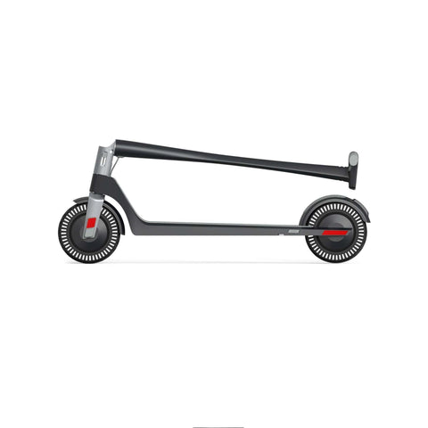 Image of Unagi Model One Electric Scooter black folded side view