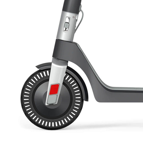 Unagi Model One Electric Scooter wheel close up black
