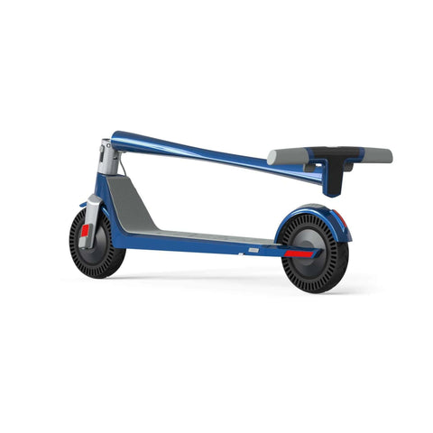 Unagi Model One Electric Scooter blue rear angle