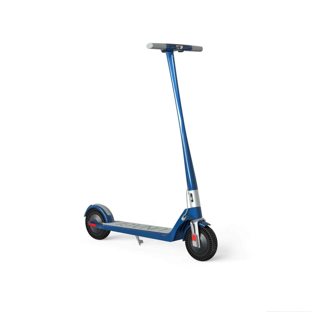 Unagi Model One Electric Scooter blue front angle
