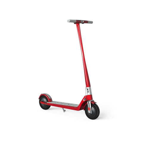 Unagi Model One Electric Scooter red front angle