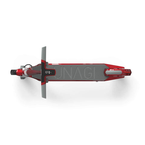 Image of Unagi Model One Electric Scooter red top view