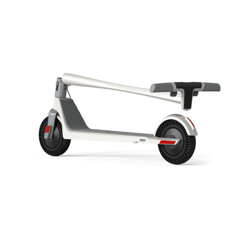Unagi Model One Electric Scooter white rear folded angle