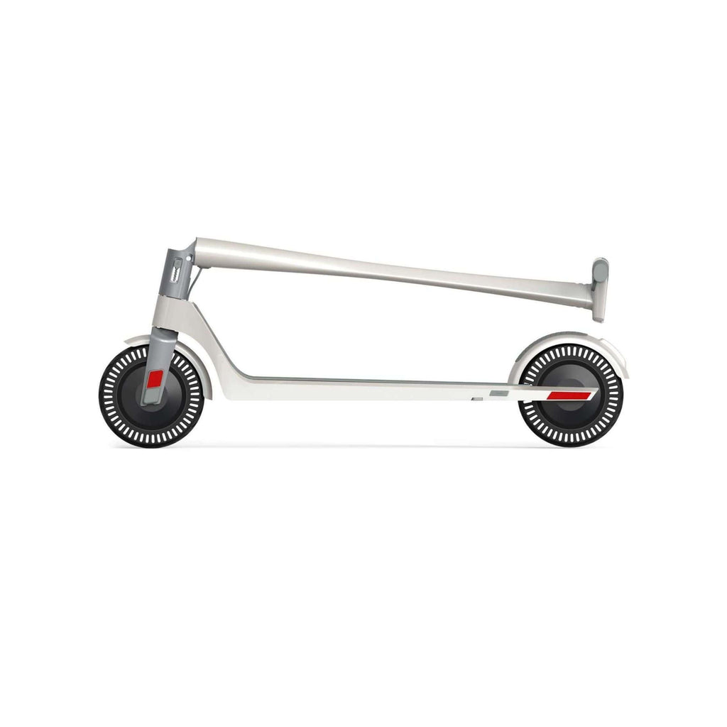 Unagi Model One Electric Scooter white folded side view