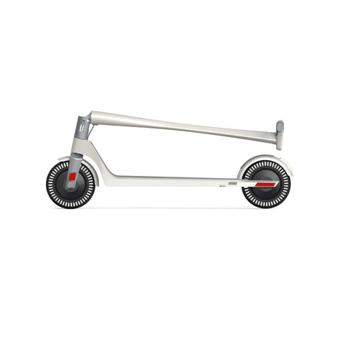 Image of Unagi Model One Electric Scooter white folded side view