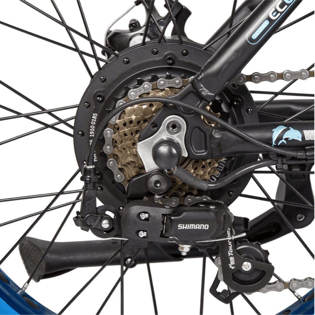 ECOTRIC Dolphin Fat Tire Electric Bike back spokes