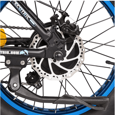 Image of ECOTRIC Dolphin Fat Tire Electric Bike wheel and back spokes