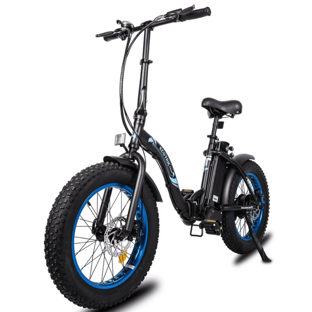 ECOTRIC Dolphin Fat Tire Electric Bike front angled view