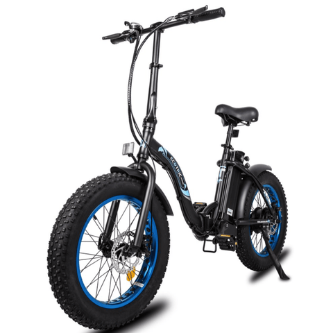Image of ECOTRIC Dolphin Fat Tire Electric Bike front angled view