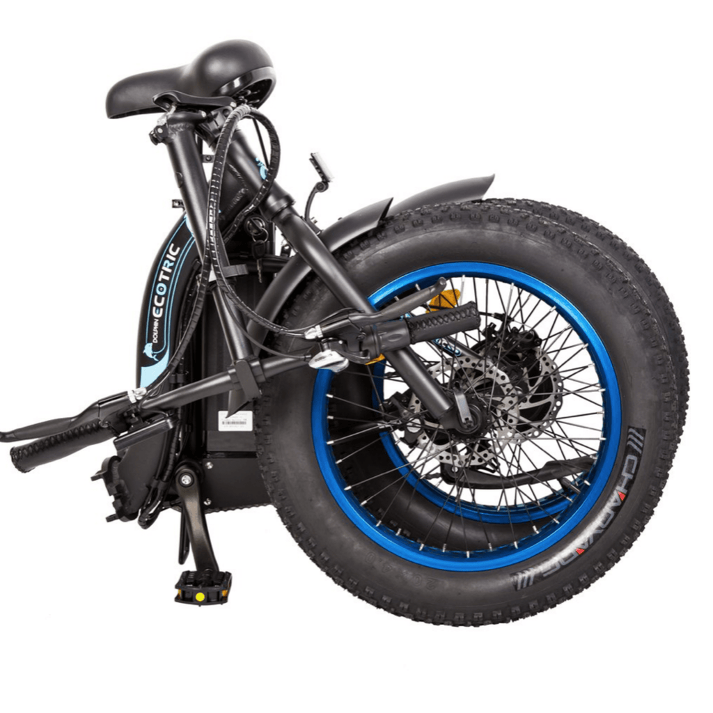 ECOTRIC Dolphin Fat Tire Electric Bike folded view