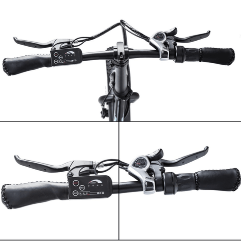 Image of ECOTRIC Dolphin Fat Tire Electric Bike handlebars