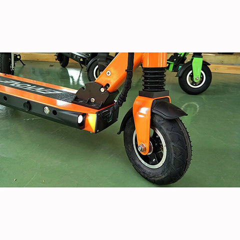 Voro Emove Touring Electric Scooter Close Up Orange