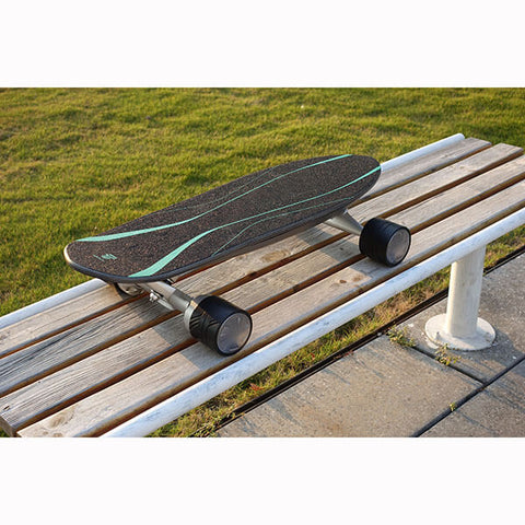 Walnutt Spectra X Electric Skateboard In Outdoor Bench