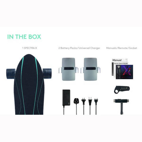 Walnutt Spectra X Electric Skateboard Package