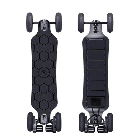 Image of WowGo AT2 Electric Skateboard front and back