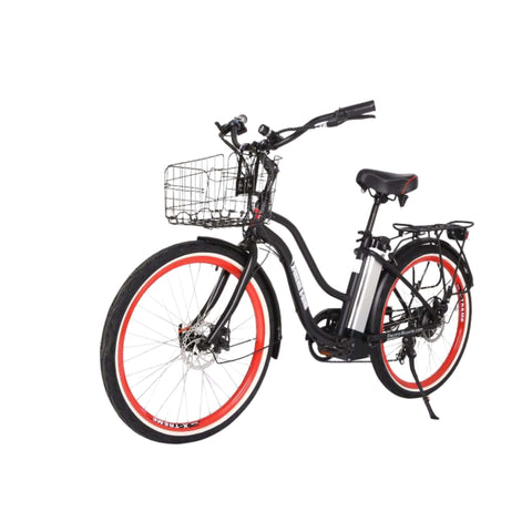 Image of X-Treme Malibu Elite Max 36V Electric Bicycle black front angle view