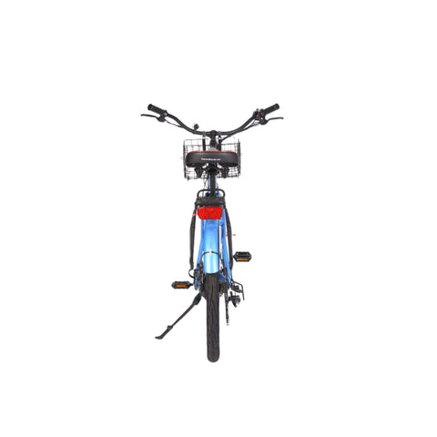 Image of X-Treme Malibu Elite Max 36V Electric Bicycle blue rear view