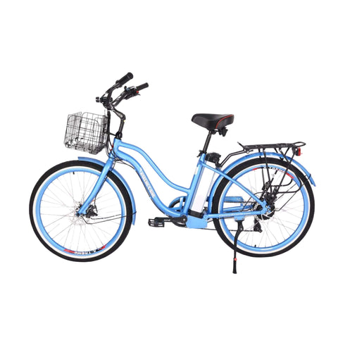 Image of X-Treme Malibu Elite Max 36V Electric Bicycle blue side view