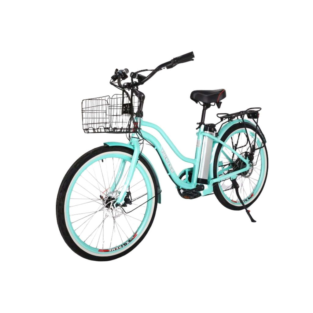 X-Treme Malibu Elite Max 36V Electric Bicycle green front angle view