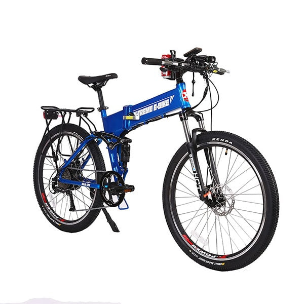 X-Treme Baja Folding Electric Mountain Bicycle Blue