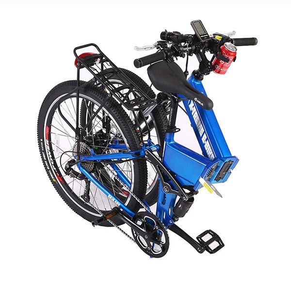 X-Treme Baja Folding Electric Mountain Bicycle Folded