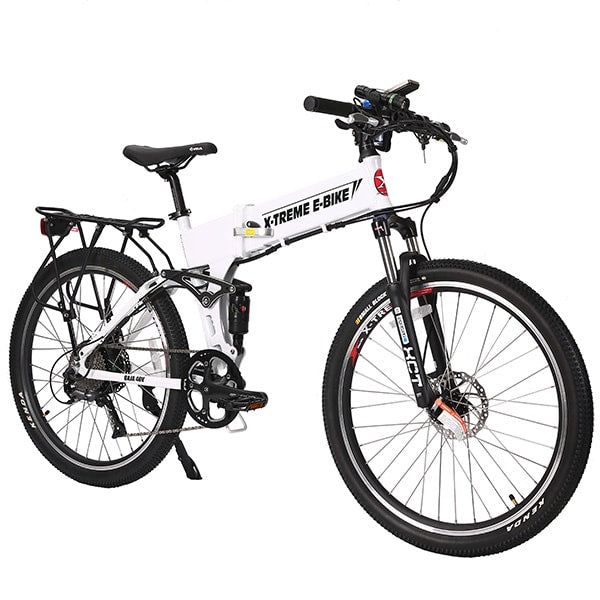 X-Treme Baja Folding Electric Mountain Bicycle White