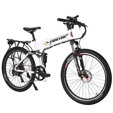 Image of X-Treme Baja Folding Electric Mountain Bicycle White