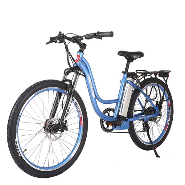X-Treme Trail Climber Elite 24 Volt Electric Mountain Bike Blue