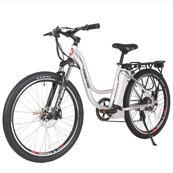 X-Treme Trail Climber Elite 24 Volt Electric Mountain Bike White