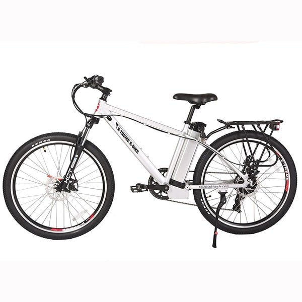 X-Treme Trail Maker Elite 24 Volt Electric Mountain Bike Side View Facing Left