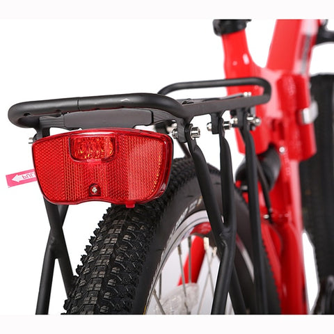 Image of X-Treme X-Cursion Elite 24 Volt Electric Folding Mountain Bicycle Rear View Close Up