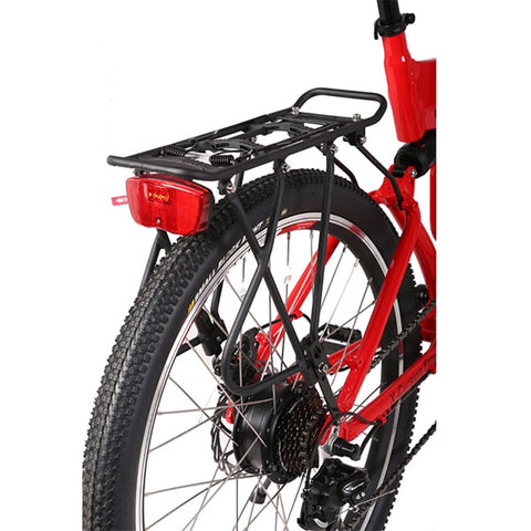 Image of X-Treme X-Cursion Elite 24 Volt Electric Folding Mountain Bicycle Rear View
