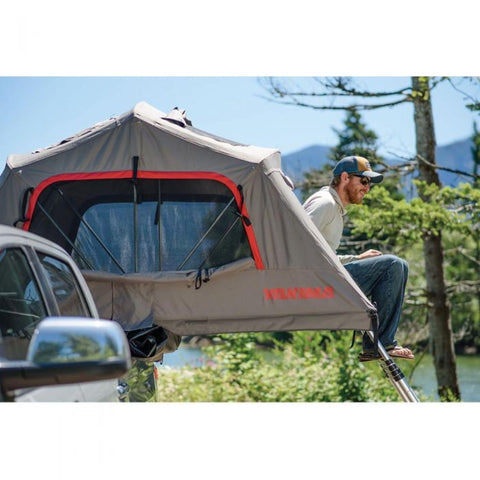 Yakima Skyrise HD Roof Tent on ladder
