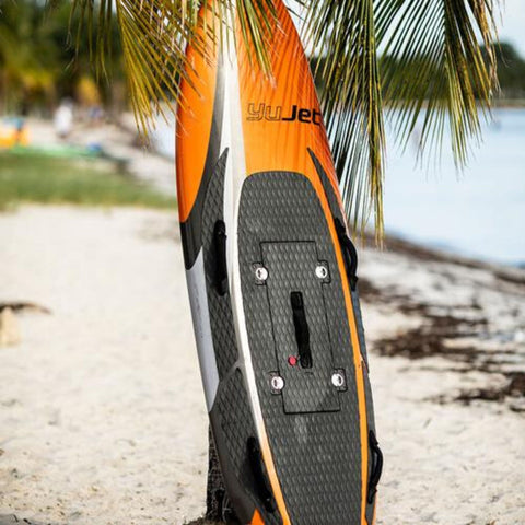 Image of YuJet Jet Powered Electric Surfboard on sand