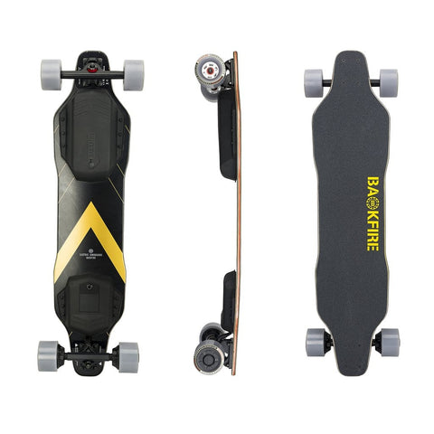 Image of Backfire G2T Electric Longboard Top Side Back View Skateboard