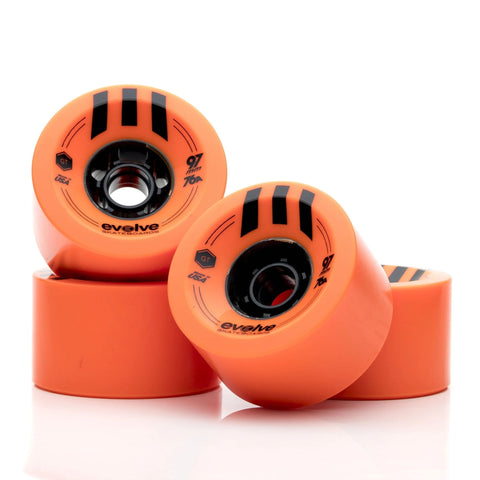 Image of Evolve GTR Street Wheels (97mm-76a)Evolve GTR Street Wheels (97mm-76a) orange