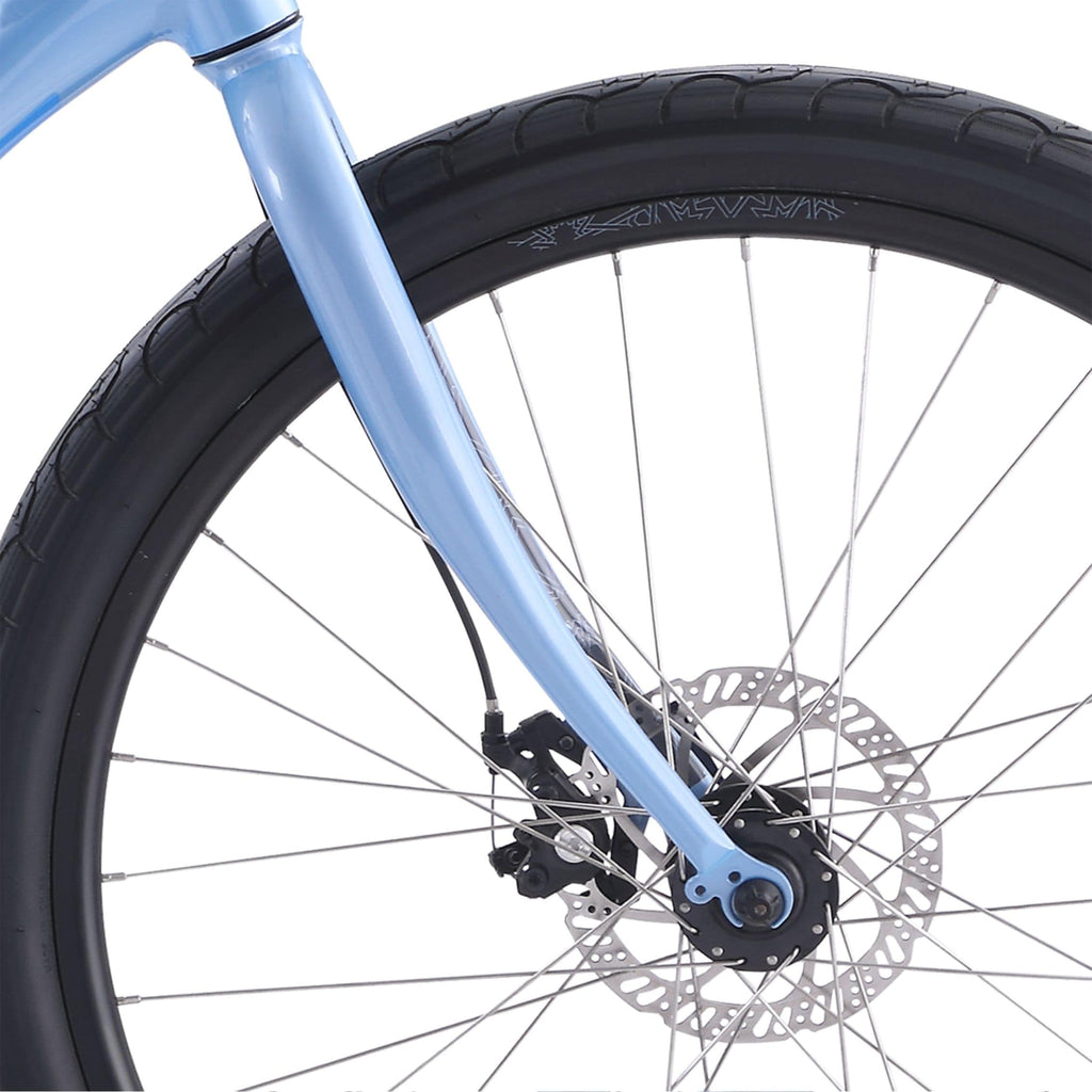 IZIP Vibe 2.0 Step-Thru Electric Bike spokes close up