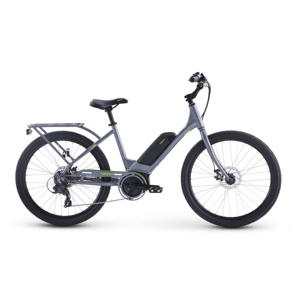 IZIP Vibe 2.0 Step-Thru Electric Bike grey side view