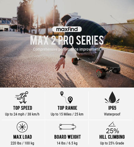 Image of Maxfind Max 2 Pro Electric Skateboard specs