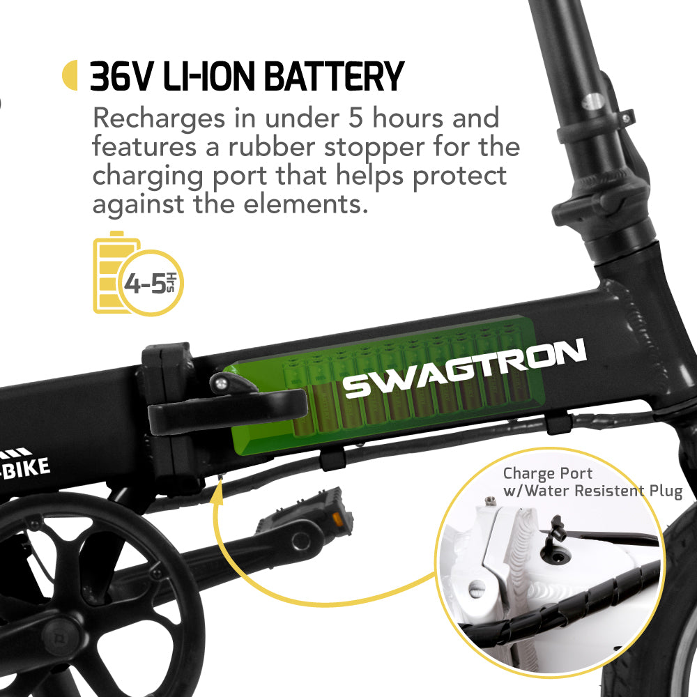 Swagtron EB5 Pro Folding Electric Bike