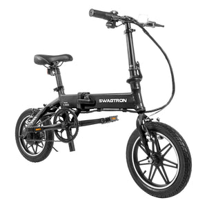 Swagtron EB5 Folding Electric Bike Black